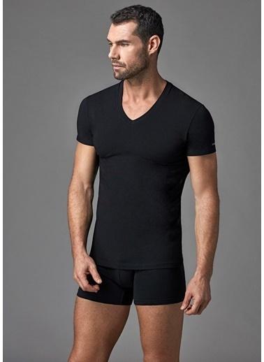 Dagi Compact V Yaka T-Shirt Siyah